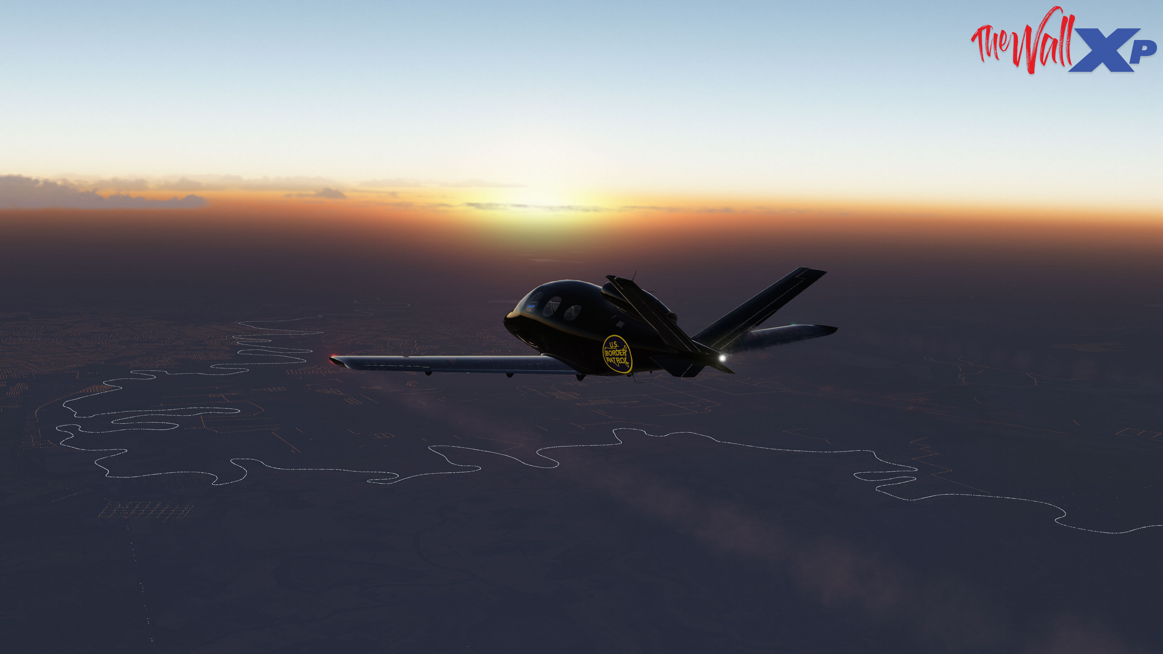 TheWallXP - X-Plane 11 Flight Simulator Scenery Trumps