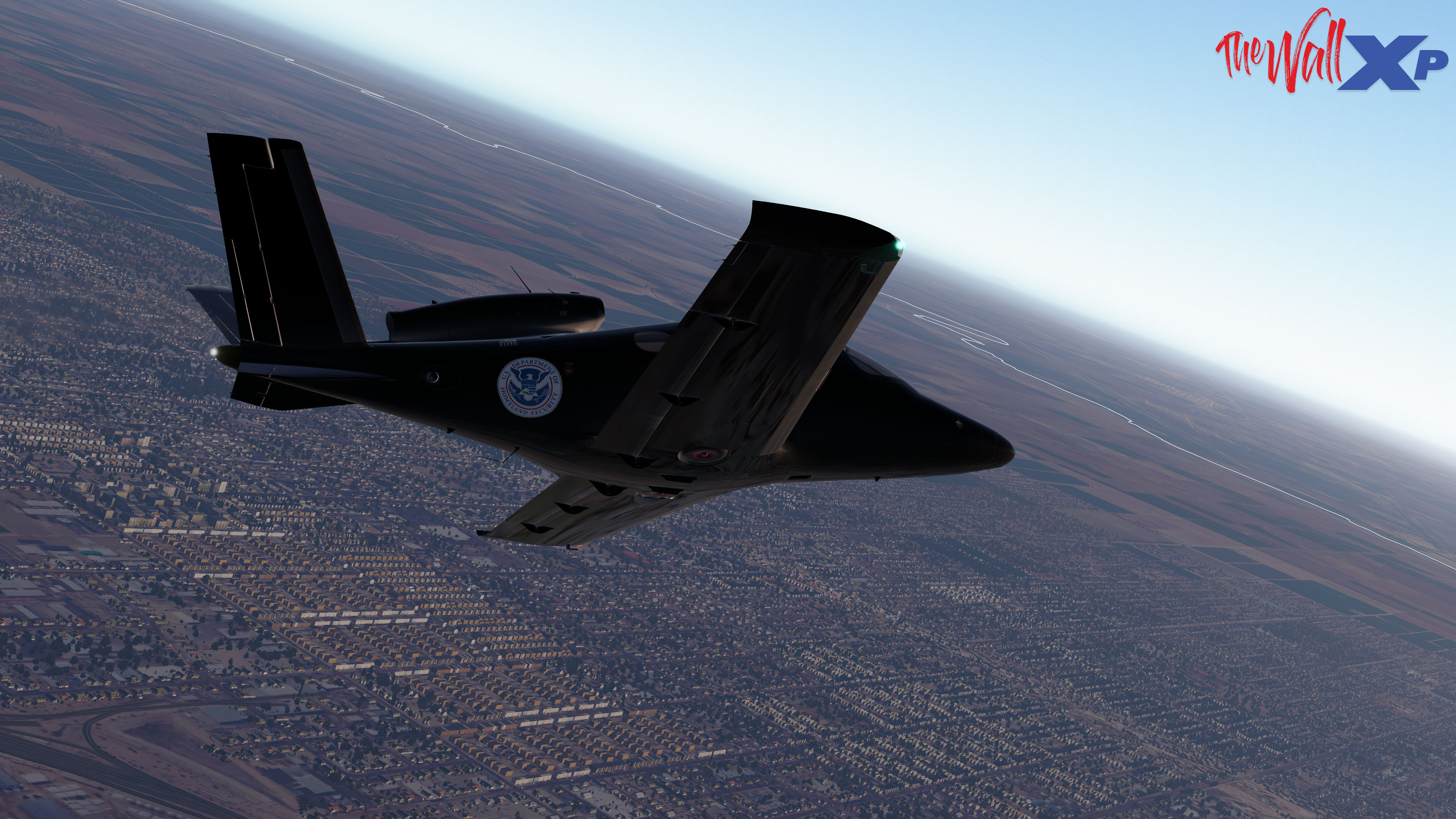 TheWallXP - X-Plane 11 Flight Simulator Scenery Trumps